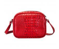 Женская сумка черная внутри красная как