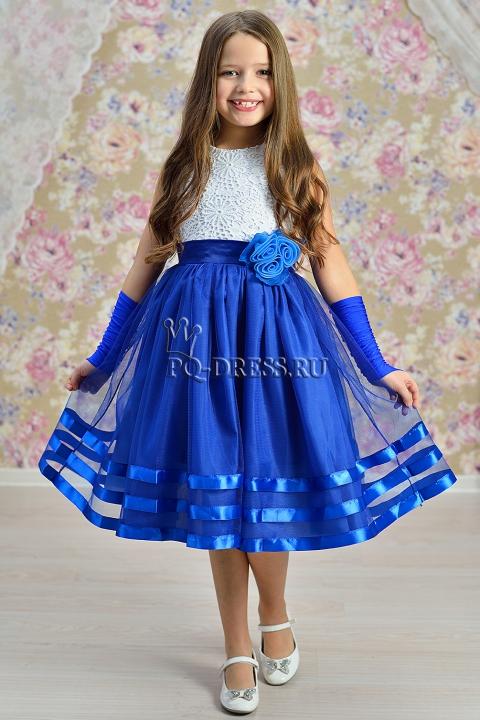 Платье нарядное арт.ир-1612 цвет электрик ир-1612 цвет электрик