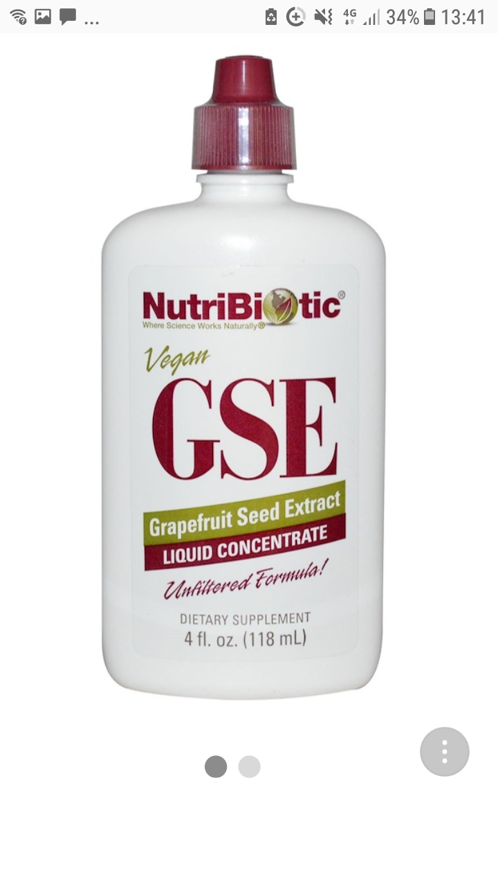 ByNutriBiotic  GSE Grapefruit Seed Extract, Liquid Concentrate, 4 fl oz (118 ml)  2039  | 9 Question(s)